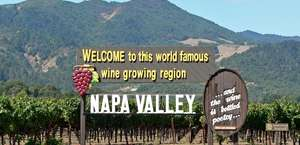 """""""Welcome To Napa Valley"""" Sign"""