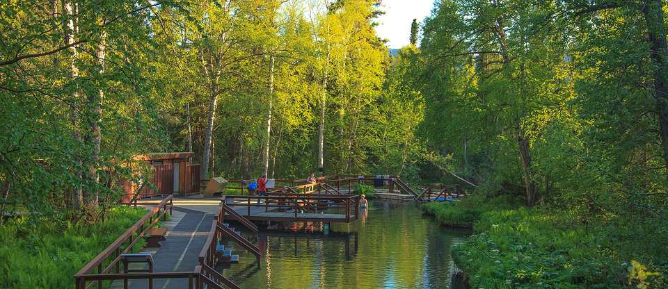 Soak in the beauty of Liard Hot Springs just off Alaska Hwy